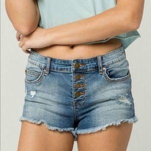 Billabong Button Fly Cutoff Denim Shorts